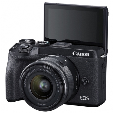Canon EOS M6 Mark II su objektyvu 15-45mm 2