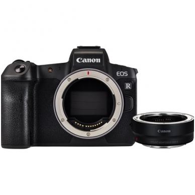 Canon EOS R + EF-RF adapteris
