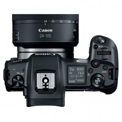 Canon EOS R  RF 24-105mm f/4L IS USM su adapteriu EF To EOS R